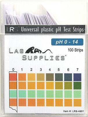 Plastic Ph Test Strips Universal Application Ph 0-14 1 Ph Intervals 100pcs