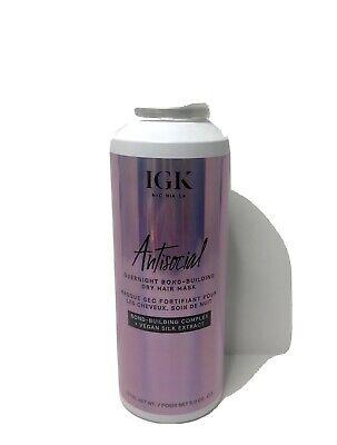 IGK Antisocial Overnight Bond-Building Dry Hair Mask -FULL SIZE (5 oz) Brand New