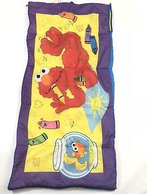 Vintage Sesame Street 2003 Elmo Puppet Cartoon Character Sleeping Bag - Elmo Sleeping Bag
