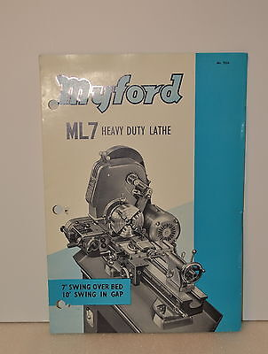 Myford Ml7 Heavy Duty Lathe Catalog Nr. 733a Jrw 012