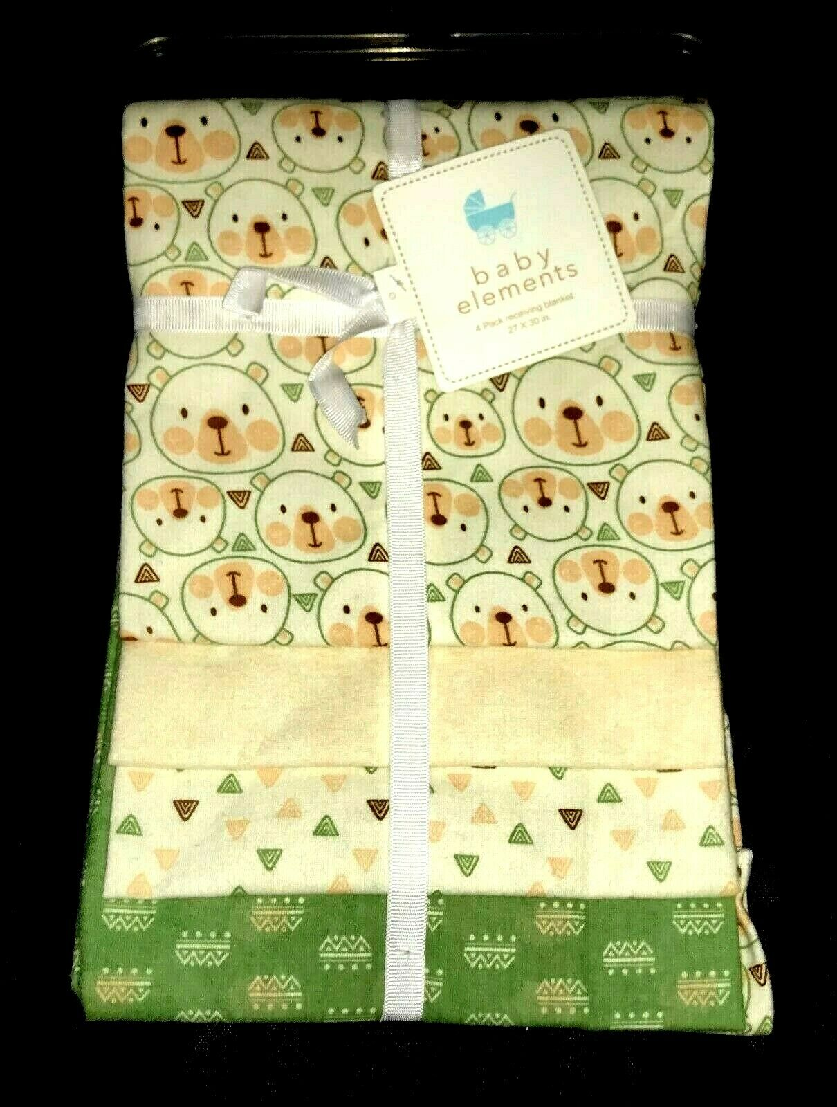 "NEW!  Baby Boys 4 pk ""Baby Elements"" RECEIVING BLANKETS  NWT"