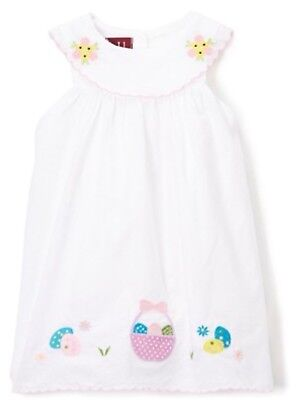 NWT Lil Cactus White Girls Easter Embroidered Yoke Dress Sz 3-6m Eggs Basket](Girls Easter Baskets)