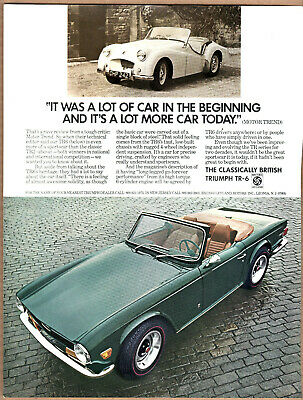 1972 1973 Triumph TR-6 Ad (British Racing Green) Print (Triumph Tr6 Racing)