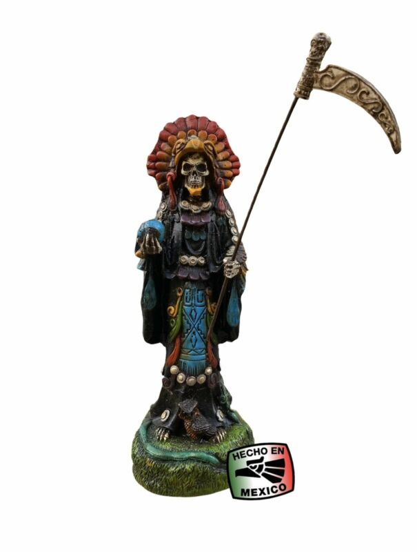 SANTA MUERTE AZTEC STATUE FOR PROTECTION -  SANTA MUERTE AZTECA PARA PROTECCION.
