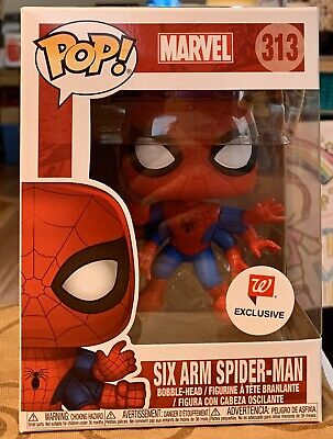 Funko Pop Marvel Spider Man Six Arm Spider-Man #313 Walgreens W/Pop Protector
