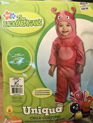 Backyardigans Halloween Costume Baby (Backyardigans Uniqua Costume Infant 1-2 Nick Jr Romper Headpiece Halloween)