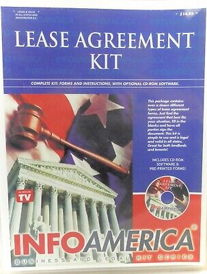Lease Agreement Kit Info America CD (Lease Agreement Software)