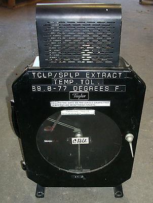 Vintage Taylor Fulscope Circular Chart Recorder Model Op 8502