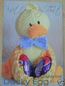 DUCKY EGG EASTER EGG HOLDER TOY KNITTING PATTERN INSTRUCTIONS TO MAKE YOURSELF