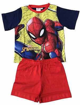 Jungen Spiderman Schlafanzüge Kinder Offiziell Baumwolle Spider-Man Shorts ()