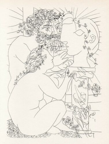 Pablo Picasso, Sculptor with His Model, His Sculpture, and a Bowl of Anemones