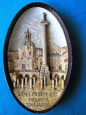 ROMA FORUM ET COLONNA TRAJANIS Handmade 1850-1899 Roman-Figurine (WS&S)
