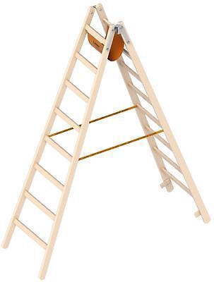 Layher Holz Stehleiter 2x8 Stufen 1038 Holzleiter