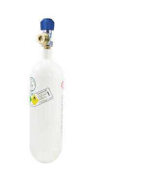 Sauerstoffflasche 2 l (Oxygen für Druckminderer Arzt Praxis Taucher Notfall CPR)
