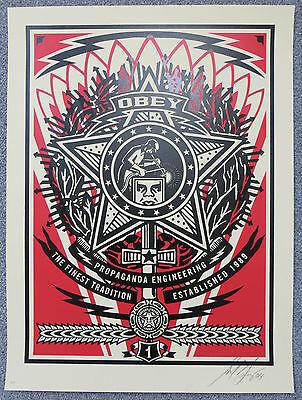 SHEPARD FAIREY- Pasadena Welder AP!! 2004 print ed. 100 signed obey giant retna