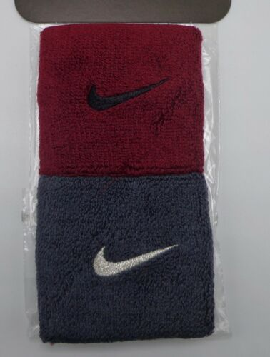 Nike Singlewide Wristbands Team Red/Black/Anthracite/Metallic Silver