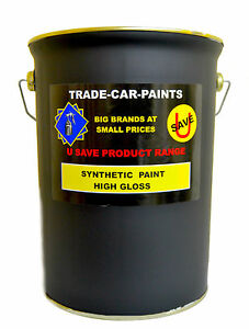 CAR PAINT & COMMERCIAL SYNTHETIC PAINT GUN METAL METALLIC GREY GLOSS 5LITRE SIZE