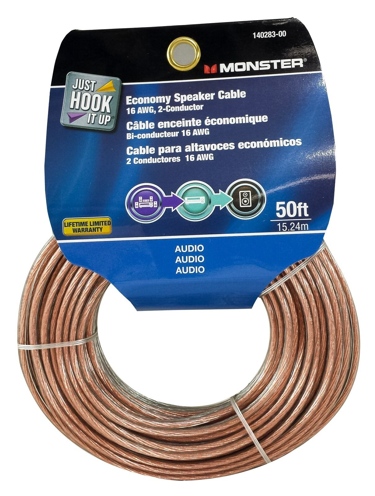 Details about Monster Cable Economy Audio Speaker Wire 9 Gauge - 9 Ft