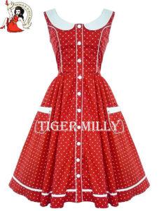 hell bunny robe ann es 50 rockabilly alaia retro rouge pois blanc sans manches ebay. Black Bedroom Furniture Sets. Home Design Ideas
