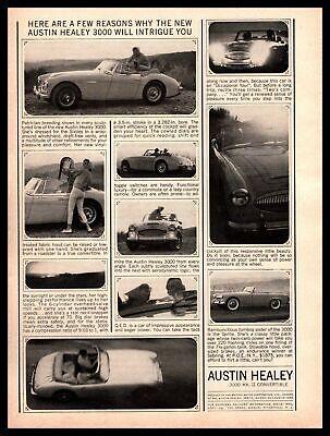 1963 Austin Healey 3000 MK II Convertible Roadster $1875 Vintage Print Ad