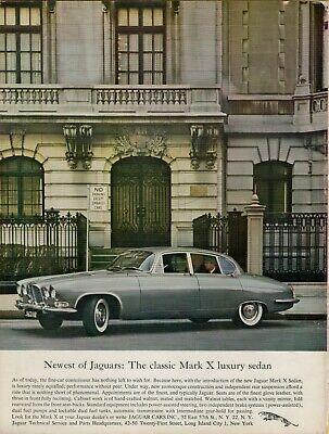 1962 Jaguar Mark X Luxury Sedan Photo Driver Color Auto Car Vintage Print Ad