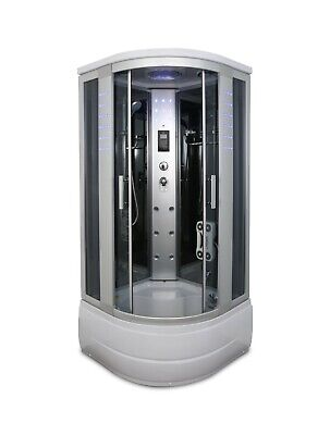 1001NOW Luxurious Corner Shower Enclosure with LED lights, hand shower, speakers