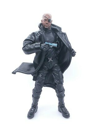 M Size Black Faux Leather Trench Coat for Marvel Legends Nick Fury (No Figure)