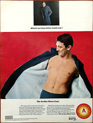 The Acrilan Warm Coat Dhibi Weathercoat Pile Fabric by Borg Vintage Advert 1965