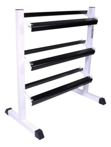 """DF515- Deltech Fitness 38"""" Three Tier Hex Dumbbell Rack- MADE IN USA!"""