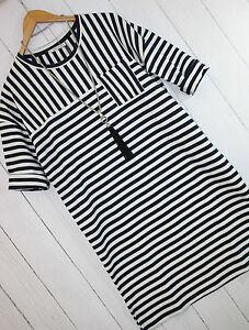 Kaffe Kleid Sweat- Kleid Gr L Asta Dress ❤ Midnight Marine Stripes  Neu