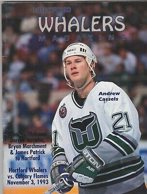 1993 HARTFORD WHALERS GAME PROGRAM VS THE CALGARY -