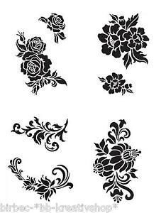 stencil muro fiori : su Universal Stencil viva DECOR Stencil tessile Muro Fiori Fiori ...