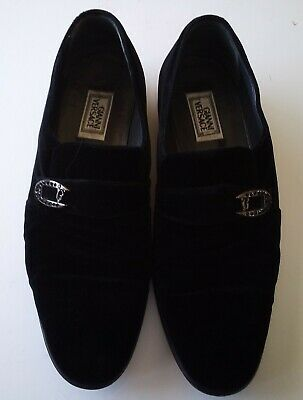 Gianni Versace Men's Black Shoes Made In Italy Size 42 US Size 9