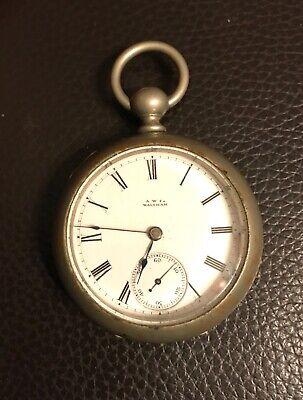 Antique Waltham 11 Jewels Nickle Pocket Watch Size 18s ca 1881