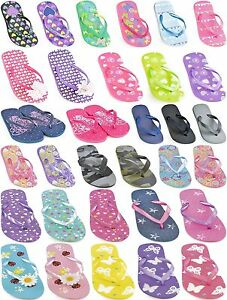 FLIP-FLOPS-GIRLS-BOYS-KIDS-JELLY-SANDALS-BEACH-SPORT-SIZE-9-10-11-12-13-1-2-3