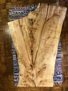 STUNNING Live Edge Maple Slab Coffee Table