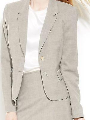 Calvin Klein Petite Suit Separates Blazer Sz 14P Black Cream Business -