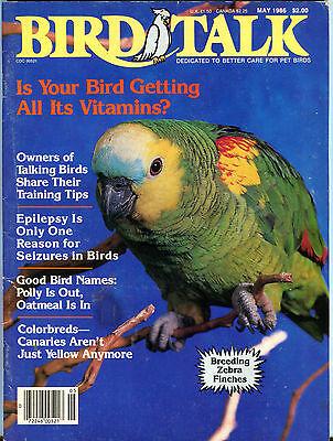Bird Talk Magazine May 1986 Breeding Zebra Finches EX 062716jhe