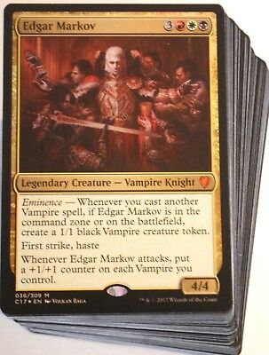 (***Custom Commander Deck*** Edgar Markov MINT Vampires EDH Mtg Magic Cards)