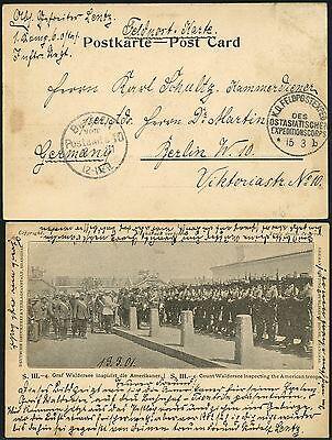 108/DP China PK Graf Waldersee Feldpost KD Feldpostexpedition b 15/3/1901