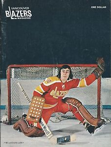 1973-74 Vancouver Blazers vs. Los Angeles Sharks WHA Program - Yves Archambault