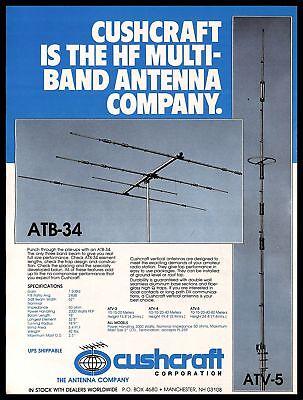 1979 Cushcraft Antennas Company Vintage PRINT AD Radio Multiband Vertical HF . Buy it now for 7.99