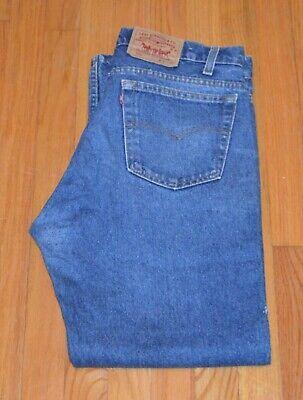 "Levi's Men's 505 Regular Fit Straight Leg Jeans Blue Size 36"" X 30"" *Distressed*"