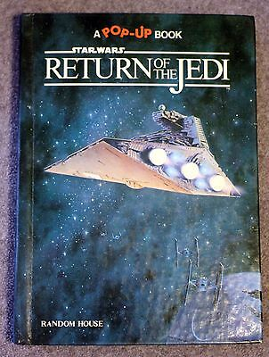 1983 STAR WARS RETURN OF THE JEDI Pop Up Book DARTH VADER Han Solo SKYWALKER
