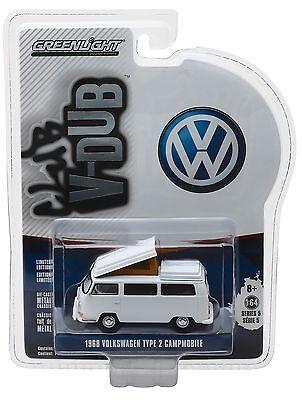 1 64 Greenlight  Club V Dub R5  White 1968 Vw Volkswagen Type 2 Campmobile Nip