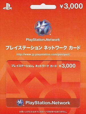 PlayStation Network Card 3000 YEN Instant Card - Japan / PSN PS4 PS3 PSVita PSP