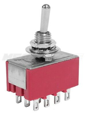 4pdt Mini Toggle Switch On-on Solder Lugs Mts-402 High Quality. Usa Seller