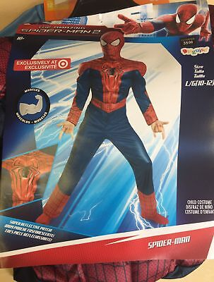 NEW, Disguise The Amazing Spider man Muscles Child Halloween Costumes