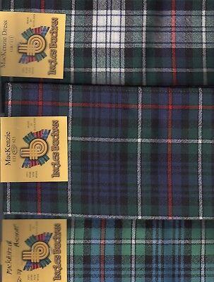 Tartan Sash Clan MacKenzie Ladies Scottish Wool Plaid -