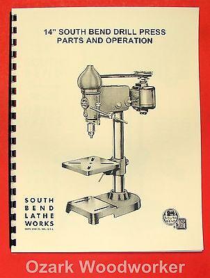 South Bend 14 Drill Press Operators Parts Manual 0667
